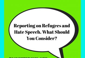Live Recording: Reporting Refugees and Hate Speech