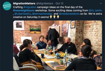 Berlin: New Neighbours Media Training for CSOs
